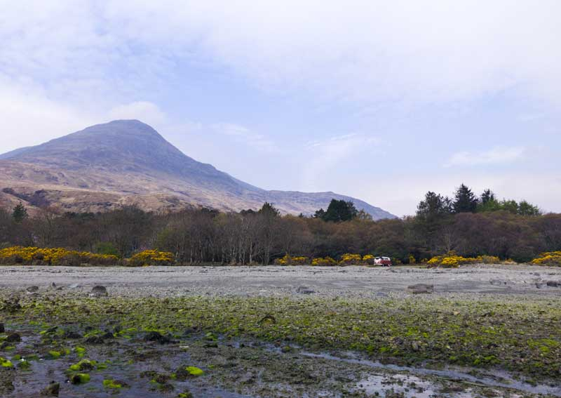 the beautiful backdrop of Lochbuie