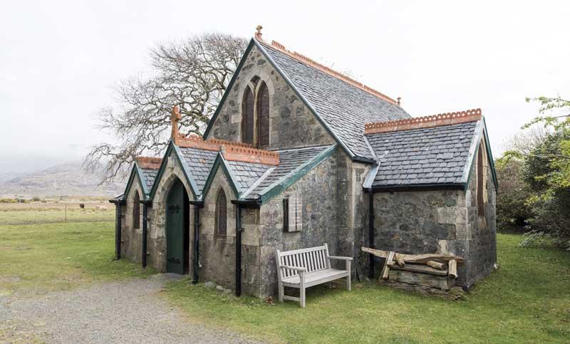 the unusual little Saint Kilda's church
