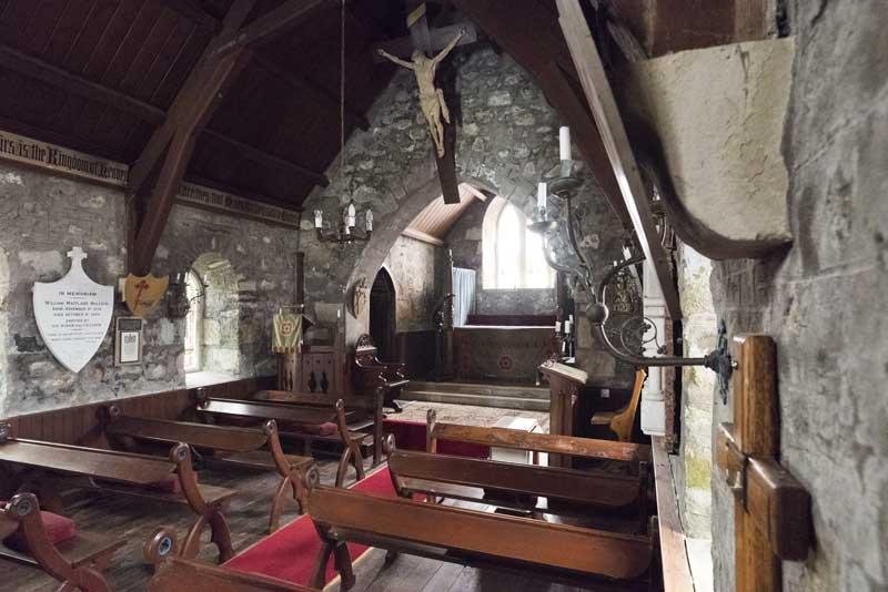 the intimate interior of Saint Kilda's church