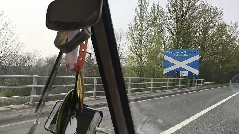 welcome to Scotland – yay, we've arrived!