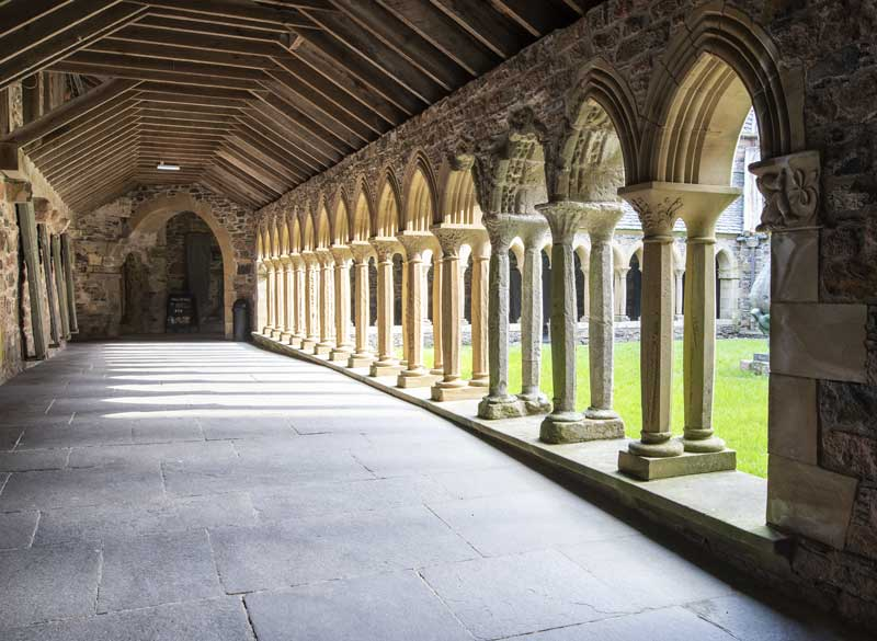 the beautiful cloisters of Iona Abbey