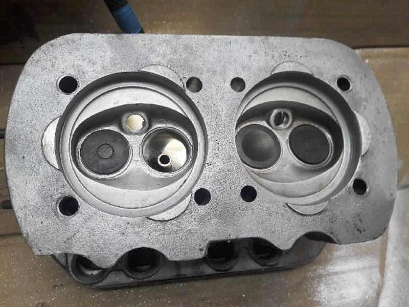 cylinder heads after a bit of mild porting work