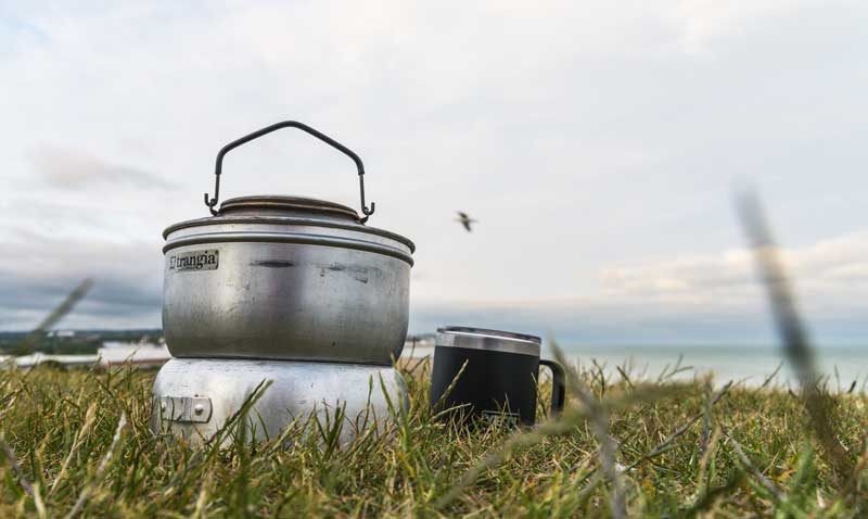 always time for tea by the sea with my trusted old Trangia stove