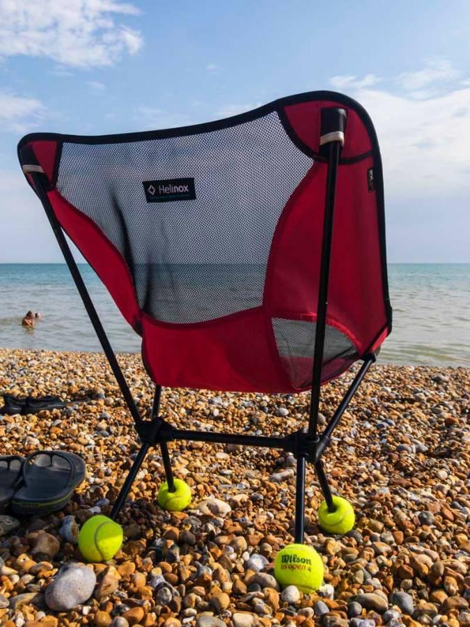RIP Wilson…Helinox beach life