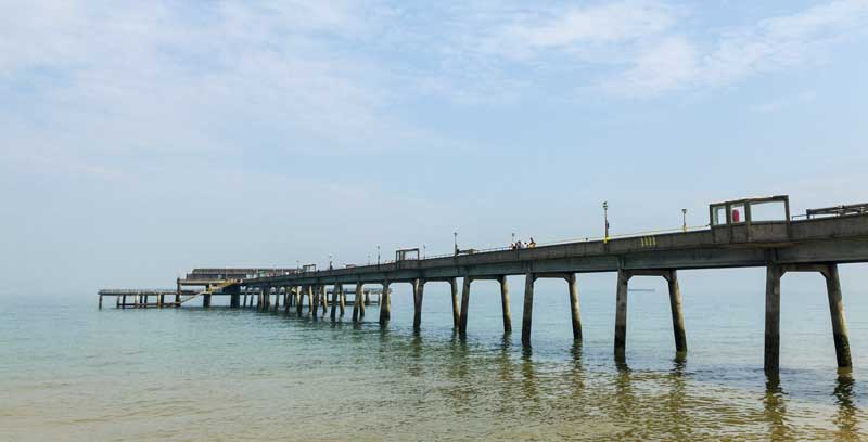 Deals reinforced concrete pier