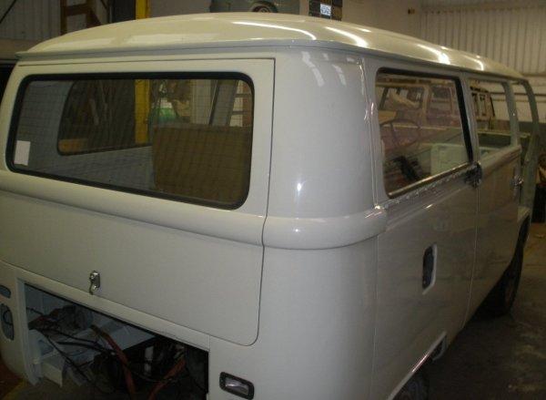 then the rear passenger side window goes in
