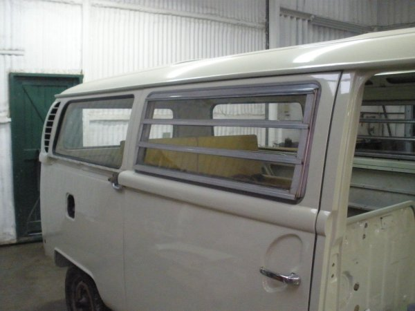 The Westy louvre/jalousie windows have all the individual rubbers replaced before fitting back into place