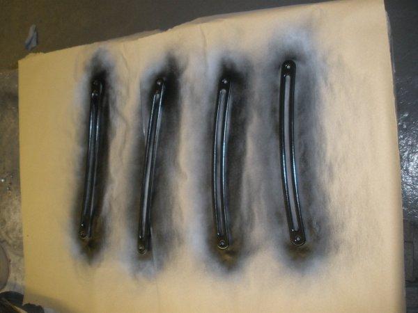 …dash front vent surrounds get sprayed in matt black top coat