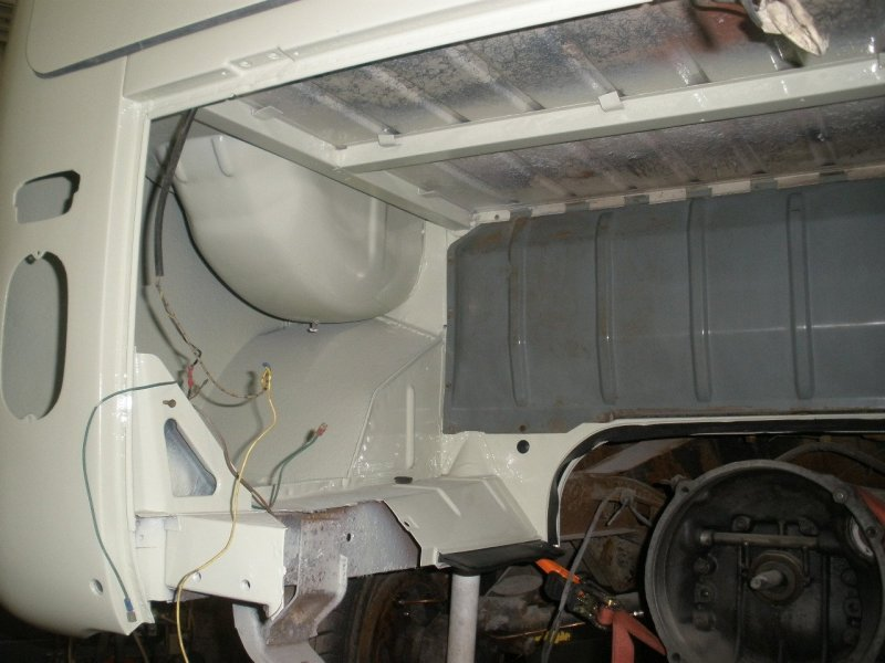 time to re-instate the firewall into the engine bay, making sure not to damage the paint of course!