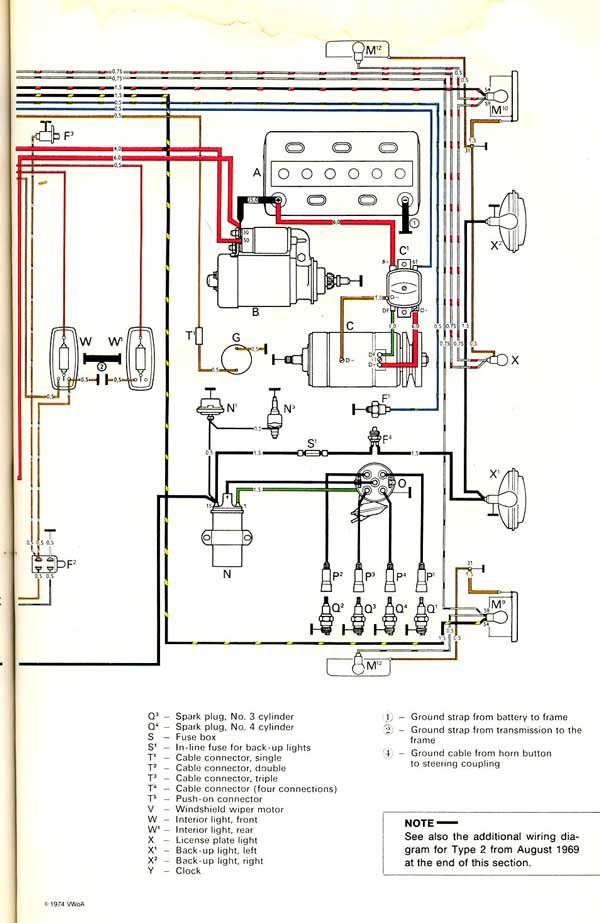Original wiring diagram with thanks from http://www.thesamba.com/vw/archives/info/wiring
