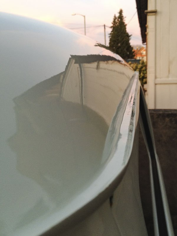 rear hatch gutter nice and straight and clean
