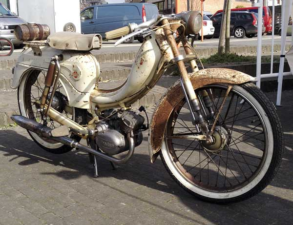 this Flandria motorbike was cooler than ice cubes in an igloo