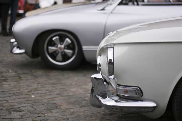 the nose profiles of different VW Karmann Ghia's