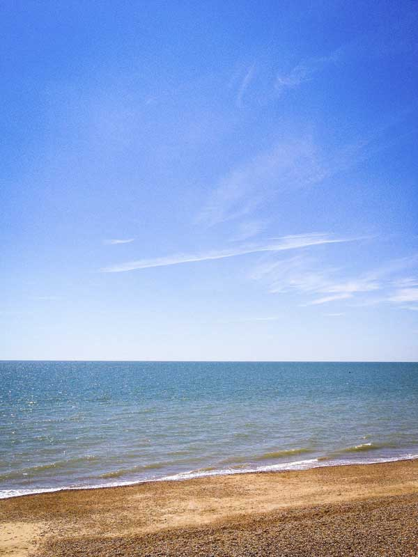 a beautiful sunny day by the beach at St Leonards-on-Sea…
