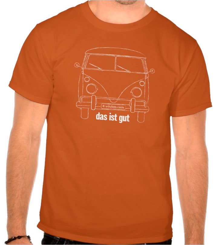 das ist gut – A distressed looking line drawing of an iconic 1960's camper that inspired the spirit of adventure and stirred the souls of many generations of travellers ever since