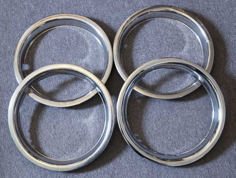 "set of of four 14"" beauty rings in decent usable condition"