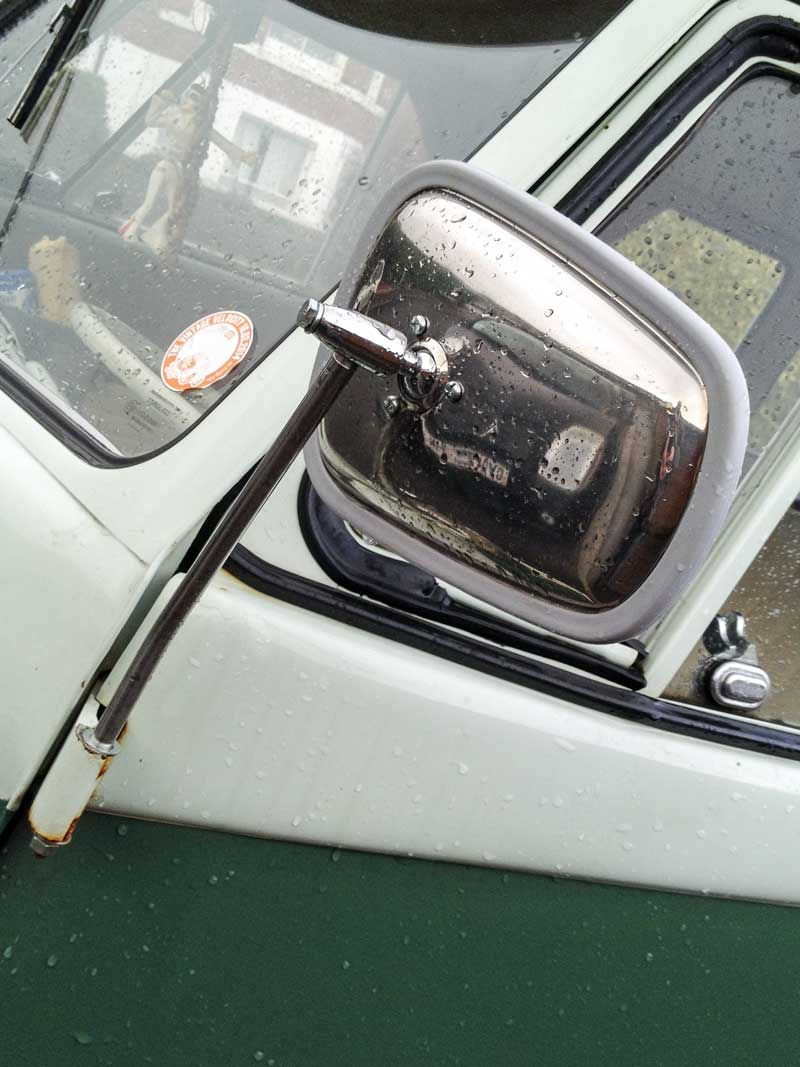 new VWOA style (Volkswagen of America) stainless steel 'Elephant Ear' mirrors