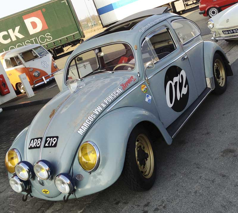 fantastic rally inspired ragtop bug – what's not to like!