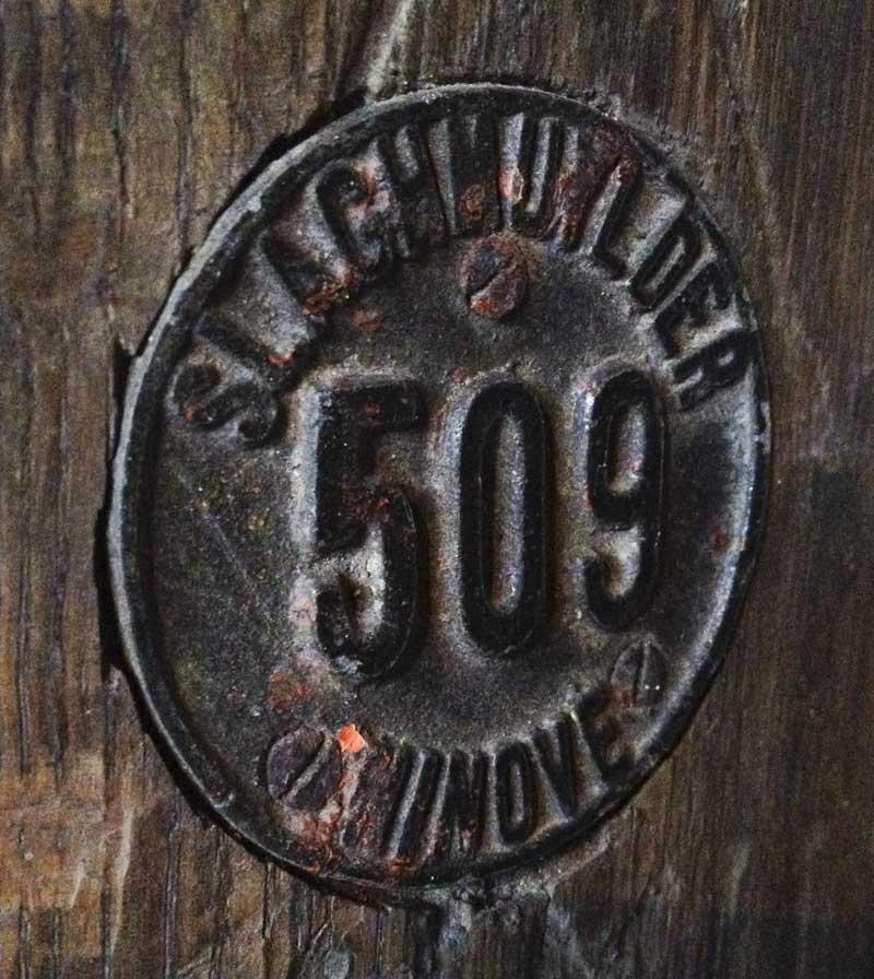 vintage Slaghmuylder 509 Ninove plaque