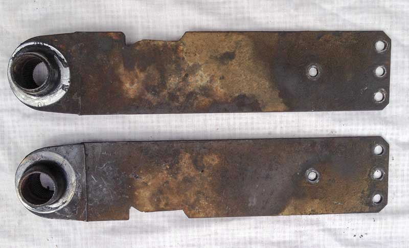 original VW spring plates, notched by a previous owner