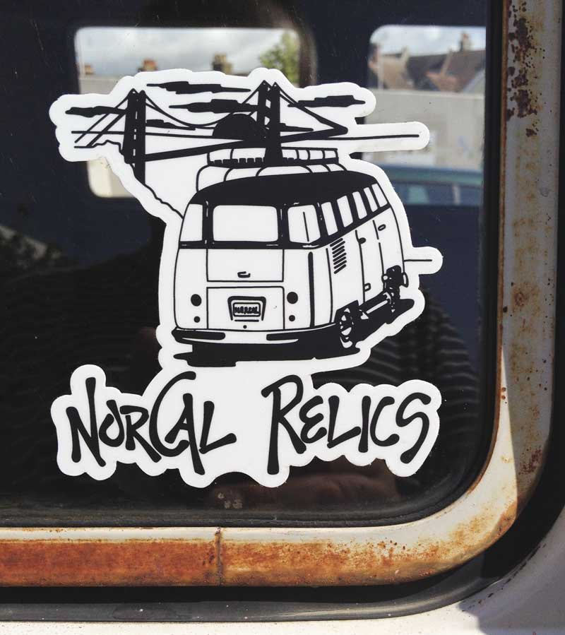 a new window sticker to add to the collection – big thanks to NorCal Relics!