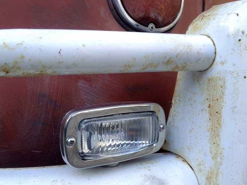 rear bumper mounted reverse light