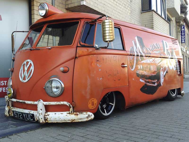 slammed and tough looking panel van