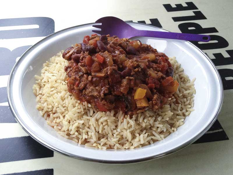 chilli and basmati rice… that touched the spot nicely