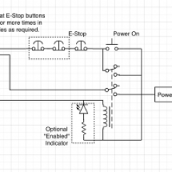 Start Stop Wiring Diagram For Car Stereo An Emergency Circuit With Emc2 Mad Penguin Labs E Optional Additions