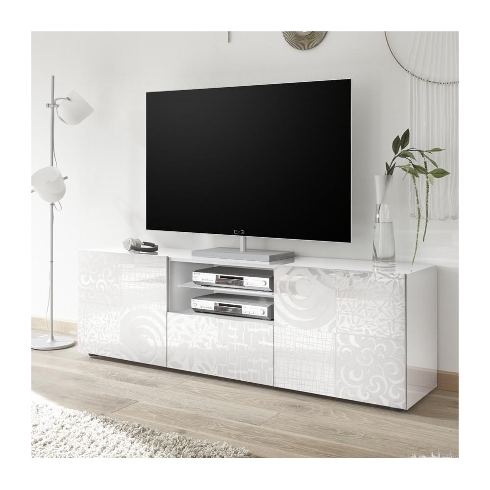 meuble tv 181 cm takao blanc buffets meubles de salon