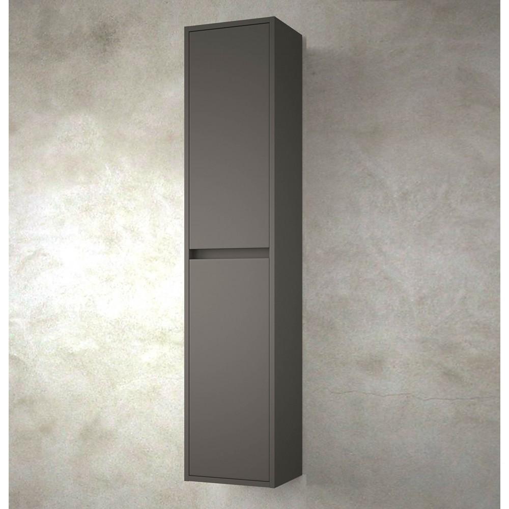 meubles de salle de bain colonne nuvola 140 cm gris mat