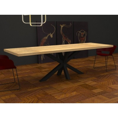 table extensible salomone en bois massif