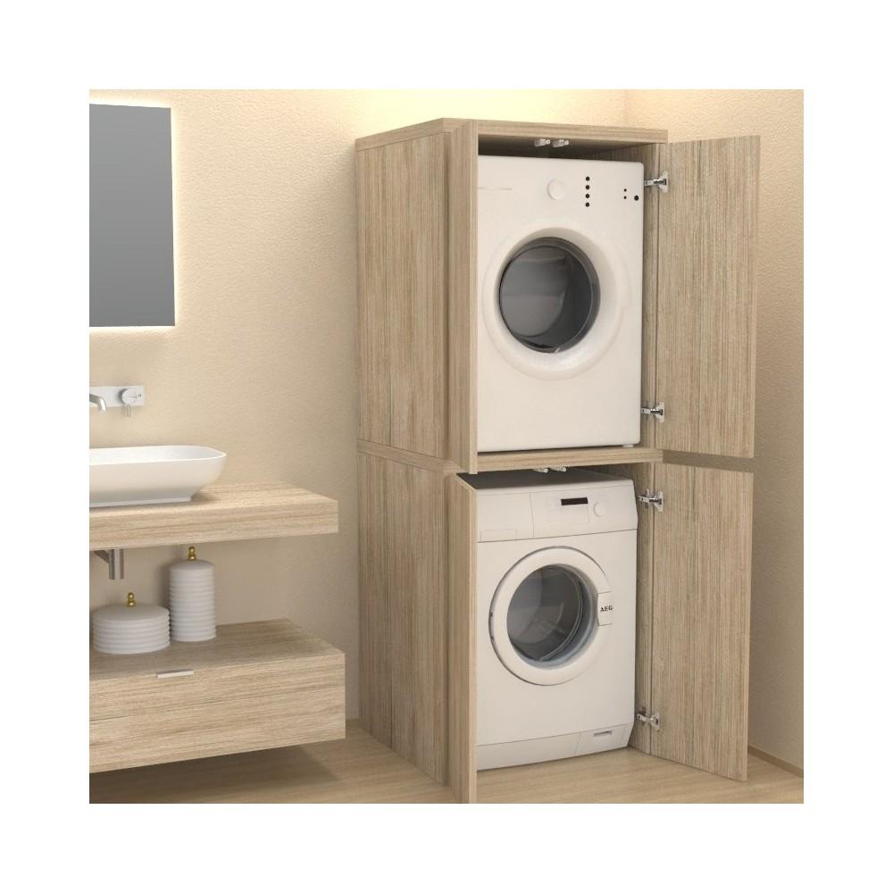 colonne avec portes couvercle machine a laver