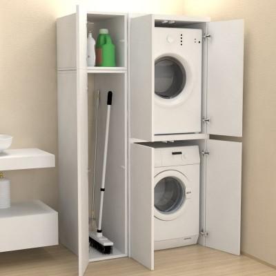Meuble Colonne Compartiment Avec Portes Machine A Laver Buanderie
