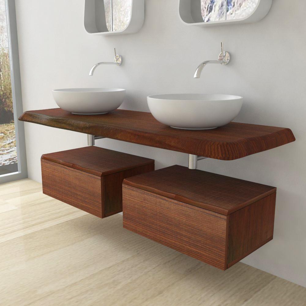 sequoia meuble salle de bains complet en bois massif