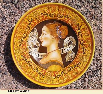 Ceramiche dArte Vecchia Deruta  Piatti da Gran Pompa dipinti a mano