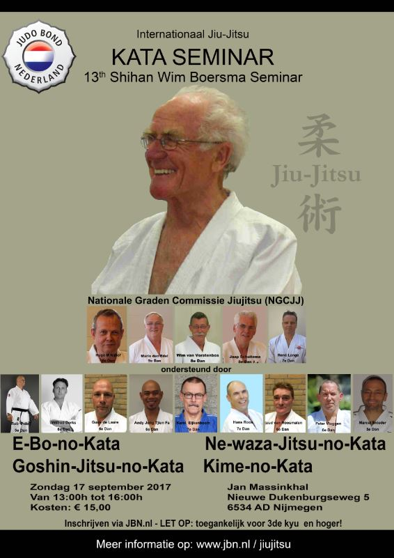 Internationale Wim Boersma Stage 2017 Jiu Jitsu Jan Massinkhal Nijmegen