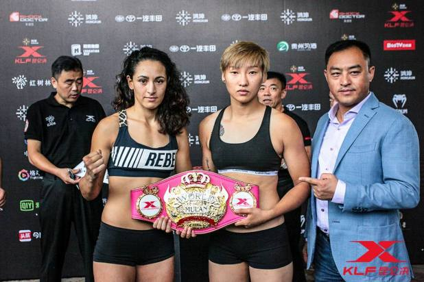 Anissa Haddaoui wint het Mulan Legend Tournament Kunlun Fight 64 China
