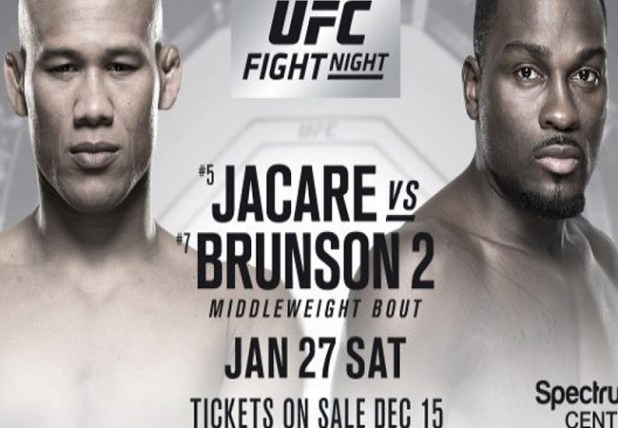 UITSLAGEN UFC ON FOX 27: JACARE VS. BRUNSON 2