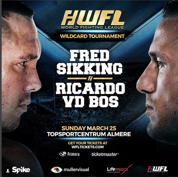 Fred Sikking treft Ricardo vd Bos in semi finale WFL Wildcard toernooi