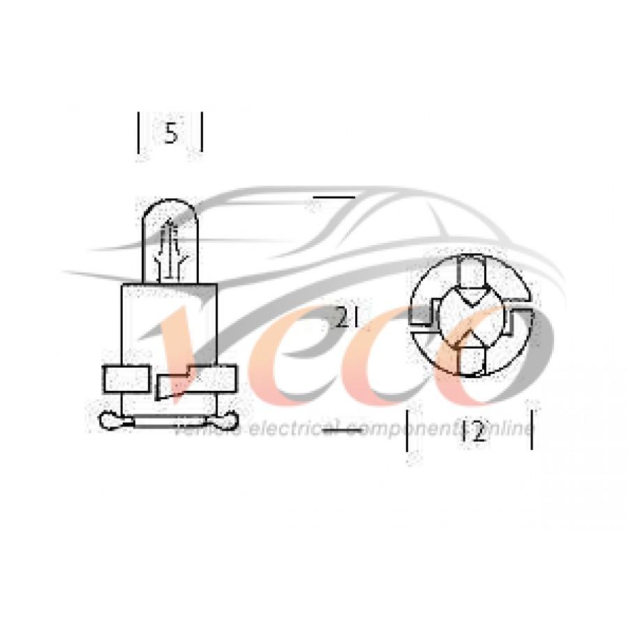 REPLACEMENT TACHOGRAPH PCB 12 VOLT 1.8 WATTS JADE BASE X2
