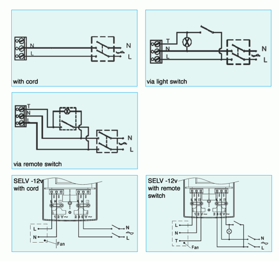 Wiring Diagram For Selv Extractor Fan