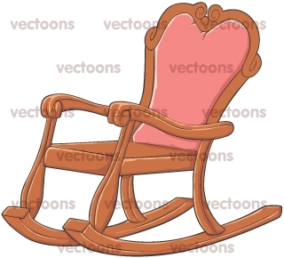 Rocking Chair Illustration  Antiques  Others  Buy Clip