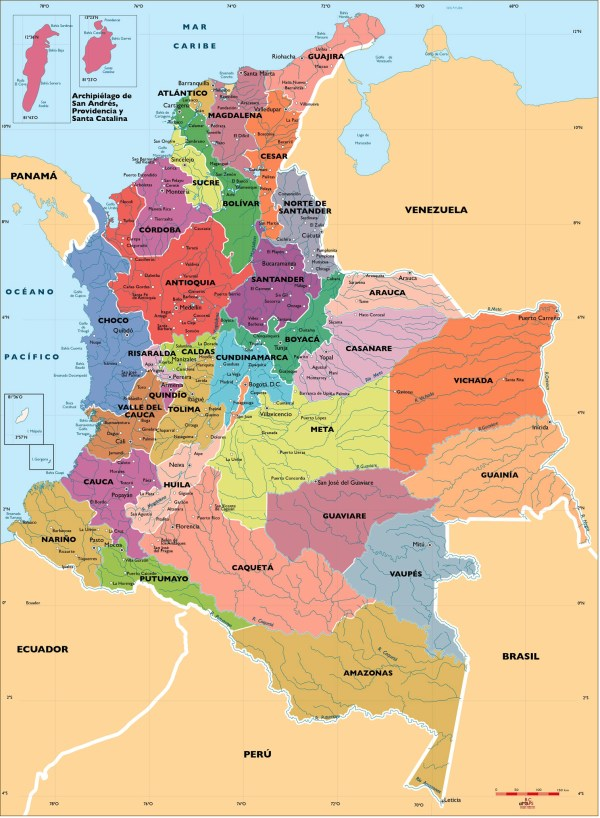 Colombia Vector city maps eps illustrator freehand