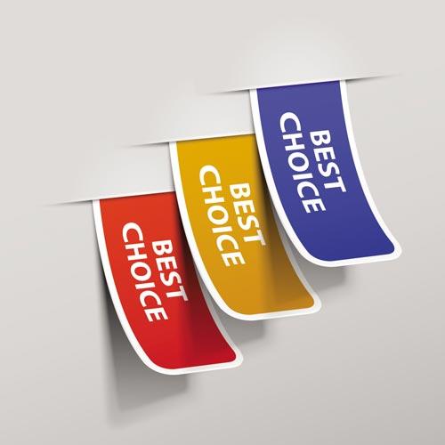 best choice stickers vectors