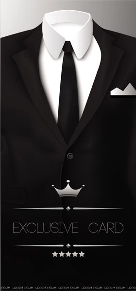 Black Tuxedos Vector Shapes