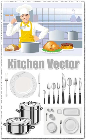 Kitchen Vector Icons Design