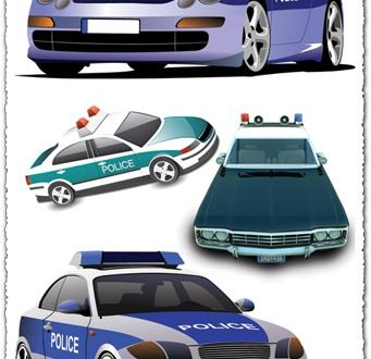 police car eps vectors