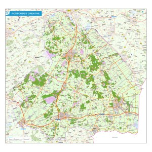 Postcodekaart provincie Drenthe