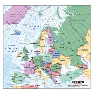 Schoolkaart Europa staatkundig